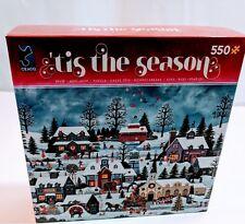 Tis the Seaaon 550 Piece Christmas Village Jigsaw Puzzle 24x18 Christmas Theme