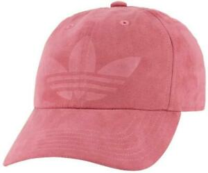 Adidas Originals Women's Relaxed  Cap/Hat Strapback Debossed Trefoil Logo Suede
