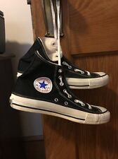 Converse Chuck Taylor All Star Shoes Made In USA Black Canvas Hi Top 7.5