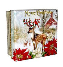 Punch Studio Decorative Keepsake Square Gift Box Merry Christmas Deer 61449