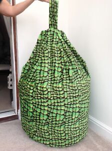 Cover only beanbag adult green crocodile 6 cubic ft Animal print new made in uk