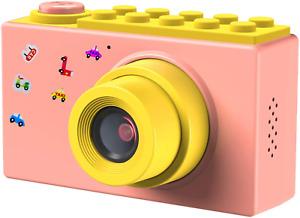 FISHOAKY Kamera Kinder, Digitalkamera Videokamera Fotoapparat Kinder Full HD