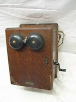 Antique Western Electric Oak Ringer Wall Box Phone Bells Telephone