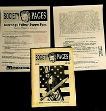 New listing 1990 USA SOCIETY PAGES #1 FRANK ZAPPA FANZINE 76 PAGES PHOTOS ARTICLES ART HOE