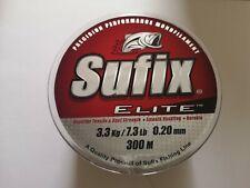 Sufix Elite Monofilament Fishing Line 3.3kg/7.3lb 0.20mm 300m