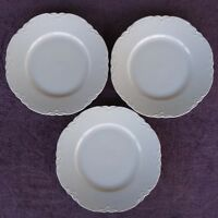 """Hutschenreuther RACINE White Large Dinner Plates 10.5"""" Set of 3"""