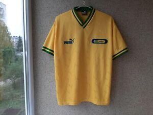 Puma Football Shirt Brazil Yellow Soccer Camiseta Vintage 1995/2000