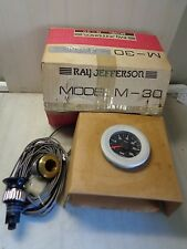 RARE FIND Speedometer Ray Jefferson M-30 with thru hull transducer new in   box