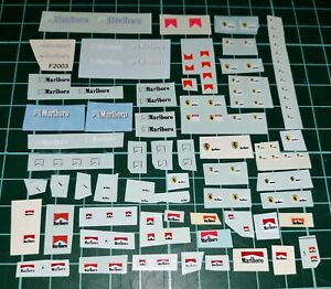 "GRAB BAG - 1/18 Assorted Ferrari F1 ""Marlboro"" Sidepod Decals (Schumacher Era)"