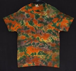 Handmade Unisex L Tie Dye T-Shirt Gildan Crew Short Sleeve 100% Cotton Camo