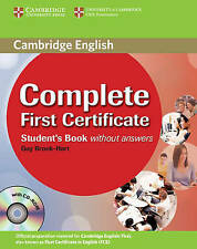 Complete First Certificate Student's Book with CD-ROM-ExLibrary