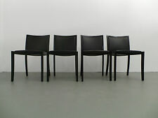 Thonet 4 x Chair Model 737 Peter Maly Wood Black Leather Black