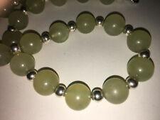 Gorgeous antique vintage Chinese jade jadeite beaded necklace