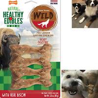 Dog Chew Treats Long Lasting Bison Snack Bones 4 Pieces Wild Natural Pet Pack