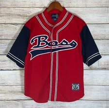 Vtg 90s Boss By Ig Designs Baseball Jersey Hip Hop Made In Korea Size L Fits S