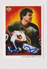 92/93 Upper Deck Peter Sidorkiewicz Ottawa Senators Autographed Hockey Art Card