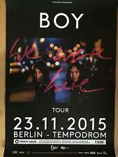 BOY 2015 BERLIN  - orig.Concert Poster  --  Konzert Plakat  A1 NEU