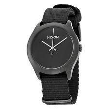 Nixon Black Dial Black Nylon Strap Mens Watch A348001