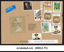 Great Britain - 2014 Air Mail Envelope To Usa With 9-Stamps