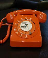 Téléphone  vintage à cadran ☎️ SOCOTEL S63 orange converti box internet de 1981