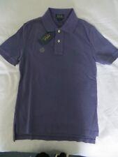 BNWT Boys Polo Ralph Lauren Purple 100% Cotton Classic Polo Shirt Top Age 8 (S)