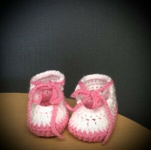 HANDMADE CROCHET BABY SHOES SANDALS  WOOL CASUAL BOOTS SLIPPERS FAST DELIVERY