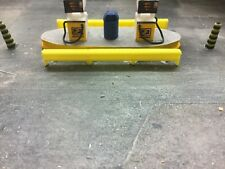 1/76 00 Gauge 3d Printed crash barrier 6pkt  (yellow)
