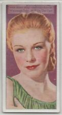 Ginger Rogers American Dancer Film Television Actress 80+  Y/O Trade Ad Card