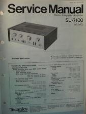 Service Manual Original Vintage TECHNICS Amplifier  Model SU-7100  Canada