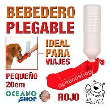 BEBEDERO PLEGABLE PERRO ROJO BOTELLA PEQUEÑA VIAJES 20cm RESISTENTE D101 ABT4150