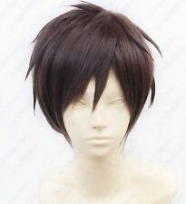 HELLOJF414  charming  Eren Jaeger Short Brown Cosplay  wigs for women hair Wig