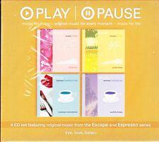 PLAY PAUSE Original Music for Every Moment ESCAPE AND ESPRESSO BOX SET NEW