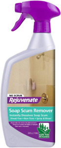 Rejuvenate Scrub Free Soap Scum Remover Shower Glass Door Cleaner 24oz Works on