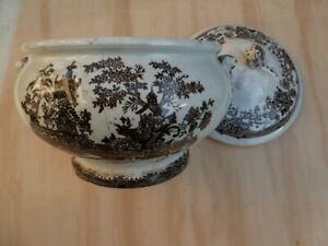 Antica zuppiera in ceramica - Colandine fine 800