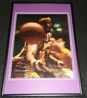 Wilt Chamberlain 1972 Lakers Framed 12x18 Photo Poster Display