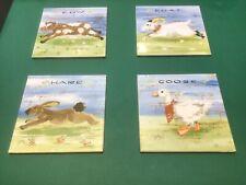 Farm Animal Theme Ceramic Wall Tile Set