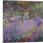 ARTCANVAS Irises In Monet's Garden Canvas Art Print by Claude Monet