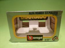 BBURAGO  0186 BOX FOR ALFA ROMEO 33 POLIZIA -  GOOD CONDITION - ONLY BOX -