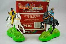 BRITAINS 7412 WILD WEST 2 POWER RIDER Cowboys on Friction DRIVE Horses MIB