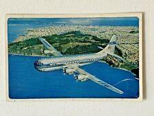 """Ansichtskarte/Postcard: Pan Am Boeing B377 """"Stratocruiser"""", 1951"""