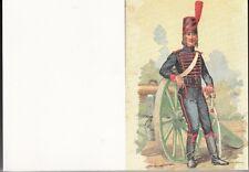 """CARTE MILITAIRE DE VOEUX OU AUTRE OCCASION """"ARTILLERIE A CHEVAL 1789"""""""