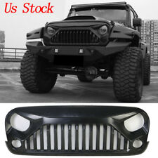 Matte Front Gladiator Vader Grill Grille For Jeep Wrangler 07-18 JK & Unlimited