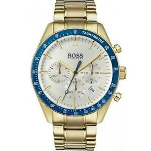 HUGO BOSS HB1513631 MEN'S TROPHY GOLD STAINLESS STEEL CHRONOGRAPH WATCH