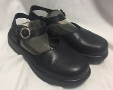 Dansko Mary Janes Women's 40/10 Black Leather Clogs Comfort Dress Shoes Classic