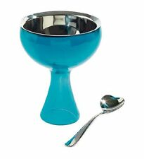 A di Alessi Big Love Ice Cream Bowl   Spoon, Blue,  AMMI01S AZ