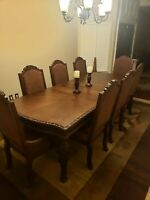Ashley North Shore 9 Piece Extension Rectangular Table Dining Room Set