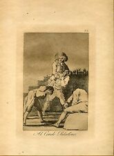 GOYA «Al Conde Palatino» Grabado (engraving) original nº 33 Caprichos (Caprices)