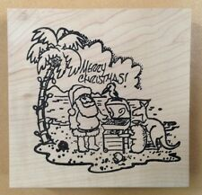 Mounted Rubber Stamps, Santa, Merry Christmas, Beach, Grill, Animals, Palm Tree