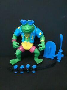 TEENAGE MUTANT NINJA TURTLES GENGHIS FROG COMPLETE HASBRO 1989 FREE SHIPPING