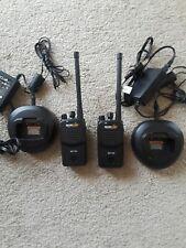 2 Motorola Bearcom BC130 16CH VHF Two Way Radio AAH84KDJ8AA2AN w chargers